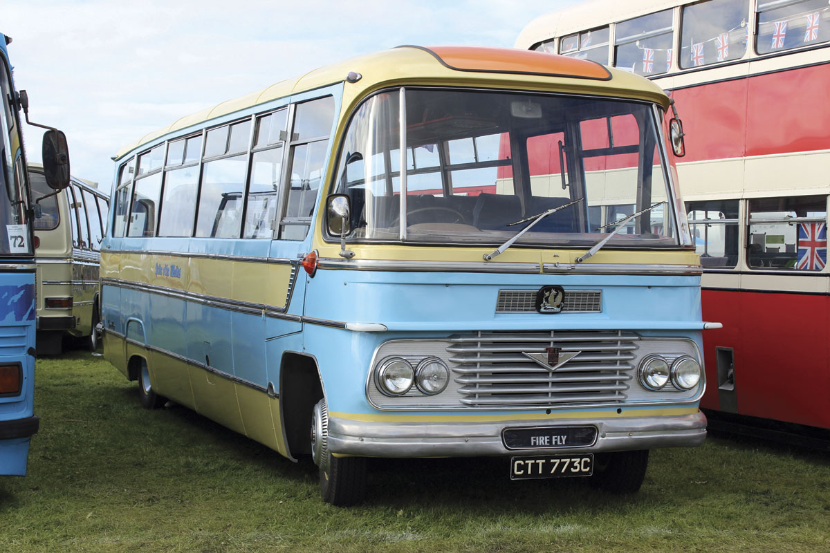 Before they could restore this 1965 Duple Firefly bodied Bedford SB5 for George Atkin, the brothers first had to raise the roof of the Den to accommodate it