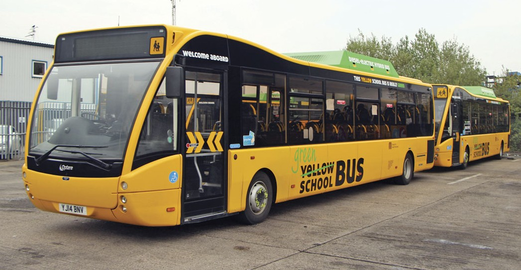 Belle Vue operate 14 of these hybrid Optare Versas although the maintenance of them is undertaken by Optare