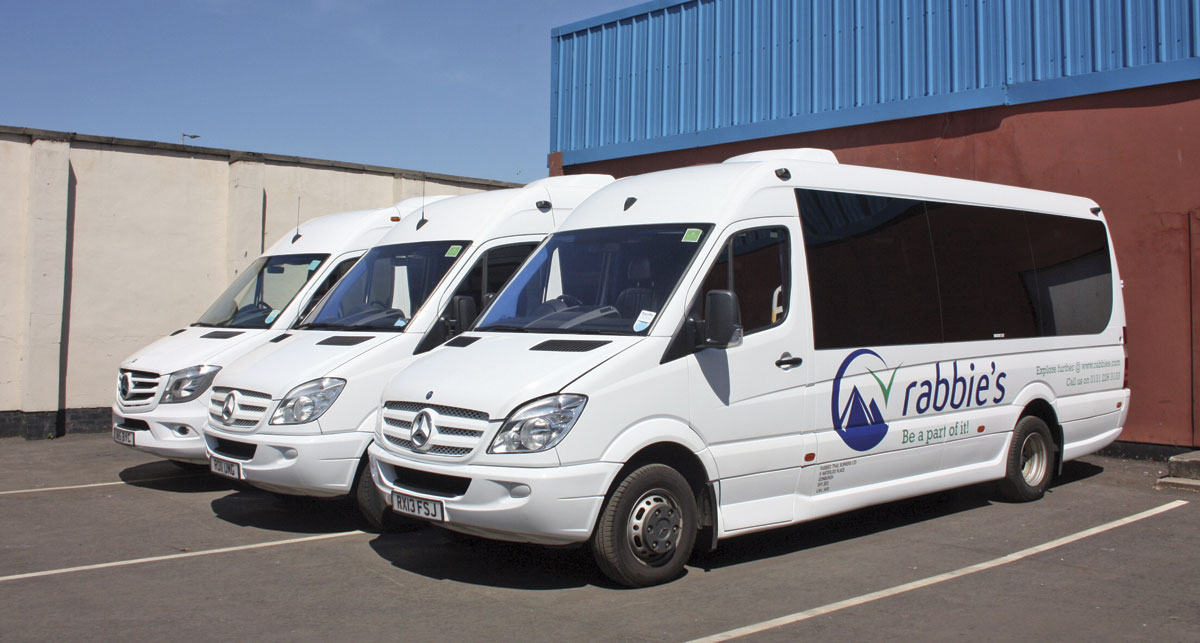 Rabbie's operate 57 of these EVM Sprinter minicoaches