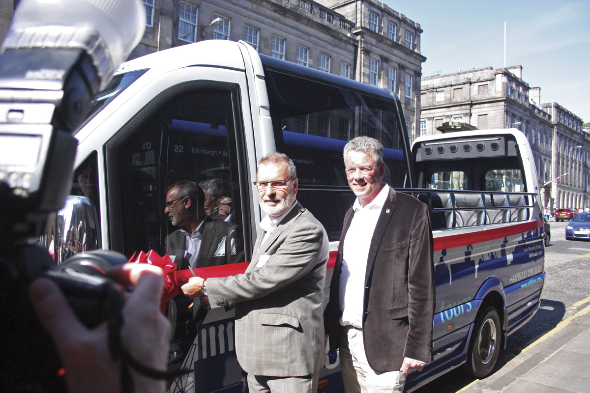 Rabbie's owner Robin Worsnop (right) with Gavin Barrie of Edinburgh City Council who launched the Rabbie's Edinburgh City Tour