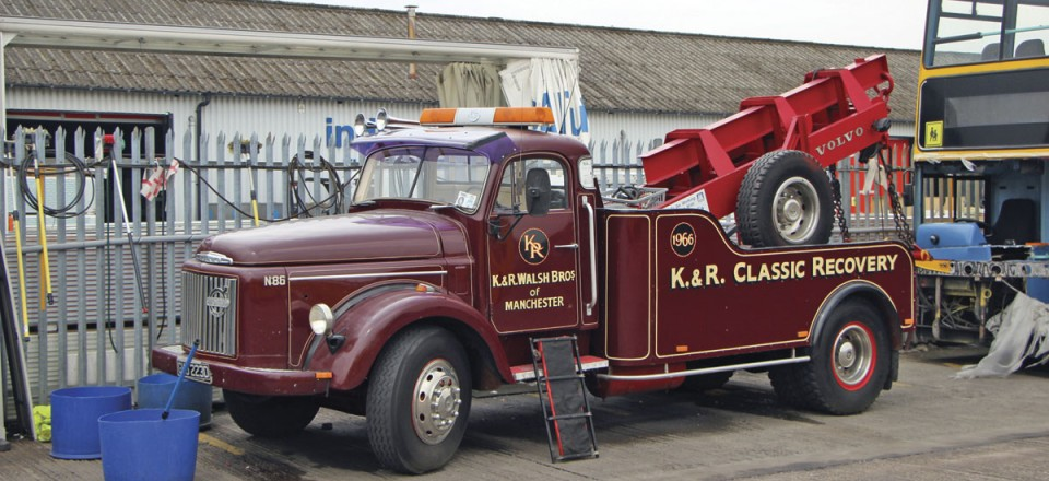 Restored by Kenny and Ray, this Volvo N86 tow truck serves the Belle Vue fleet when needed
