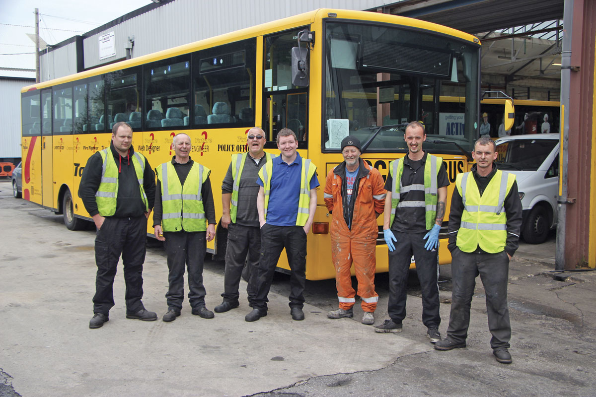 Some key members of Kenny's team; Martin, Kenny, Arthur, Danny, Robin the painter, Rees and Jason