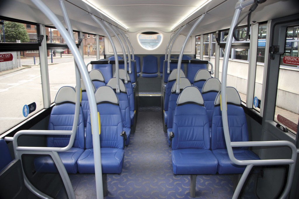 The lower deck of the Metrodecker