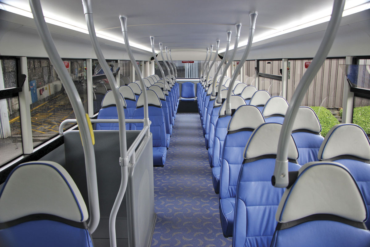 The upper deck of the Metrodecker