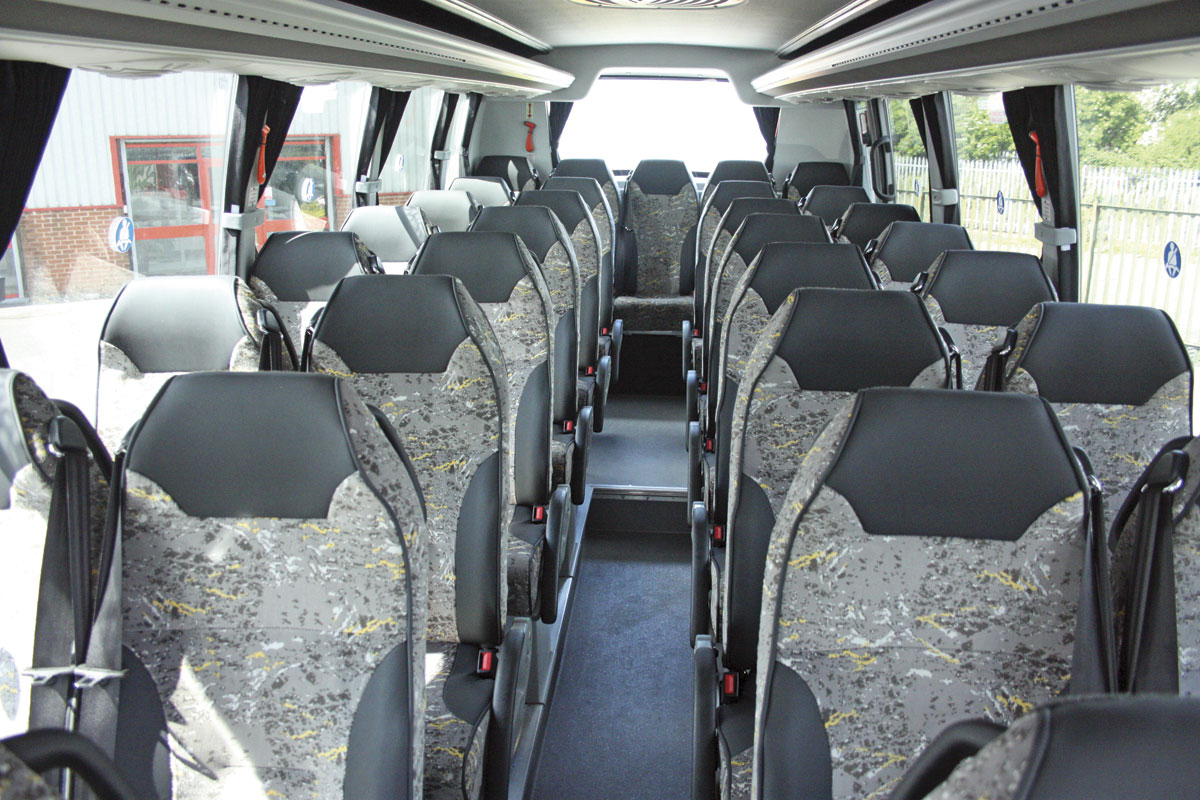 The well-appointed interior with 33 Kiel seats