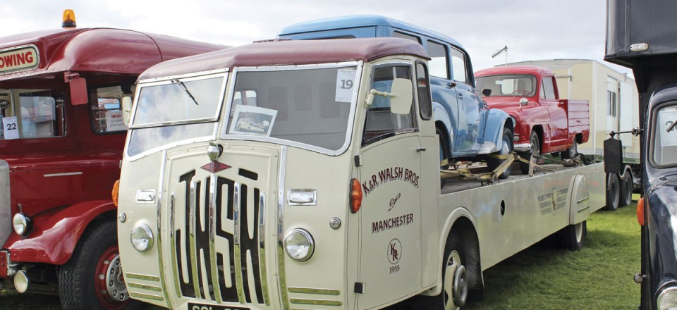 This Jensen truck was a basket case before restoration. The brothers also restored the two French vehicles on the back