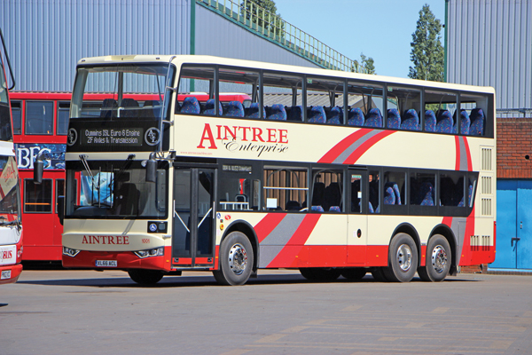 Aintree Coach Lines is the first retail customer to purchase an Enterprise from Ensignbus.