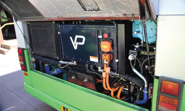 Beneath the engine cover on the Vantage Power B7 President is the B320 hybrid unit.