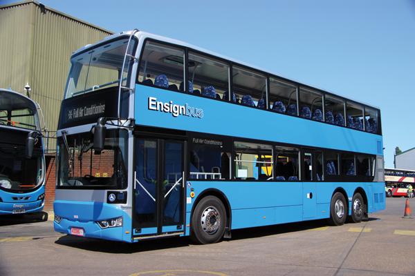 Ensignbus has taken delivery of four of the 12.5m BCI's which it will use on private hire and rail replacement work.