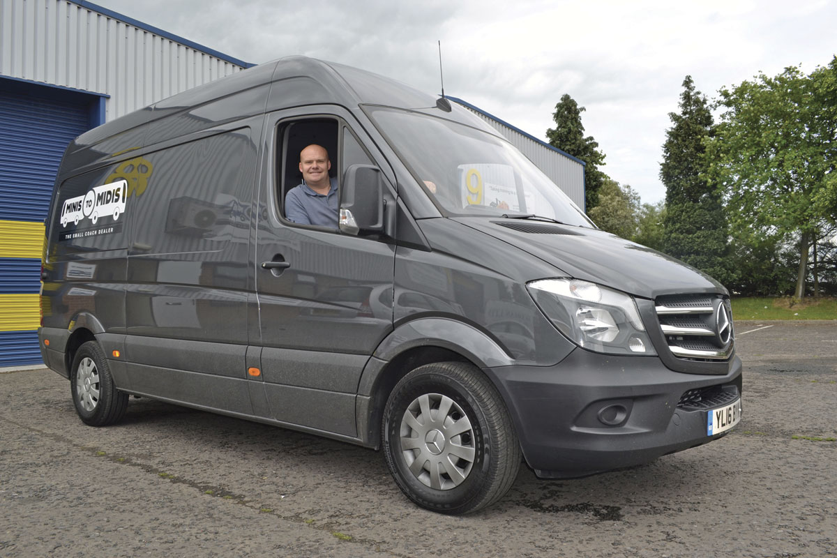 Lee Garrity in one of the company's new Sales Support vehicles