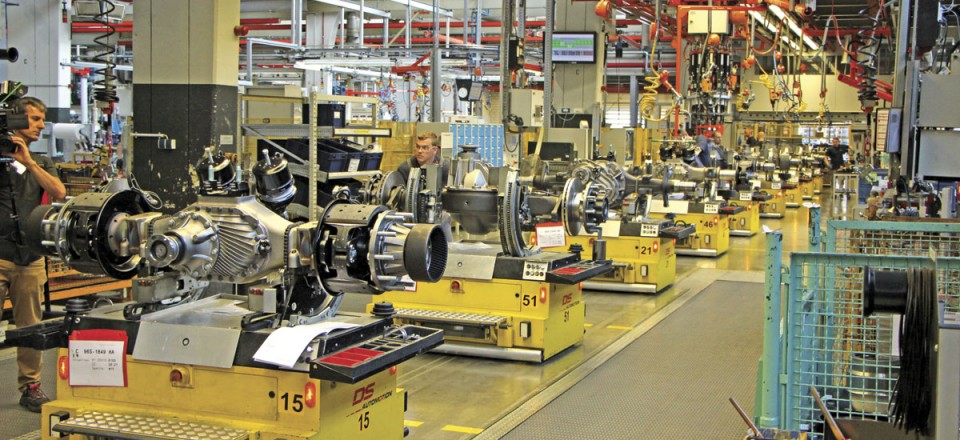Most of the drive axle production at the plant is of units destined for trucks but around 3-4 percent is for coaches