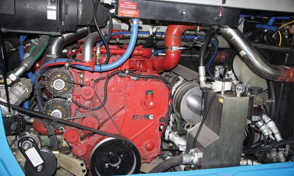 The Enterprise is powered by a Darlington built Cummins ISL 8.9-litre Euro6 engine rated at 380hp and mounted in line.