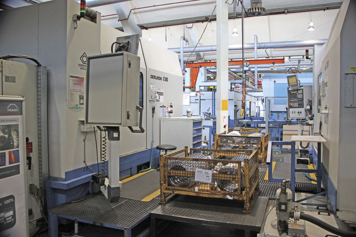 The modern equipment used to undertake the gear set production dry machining process