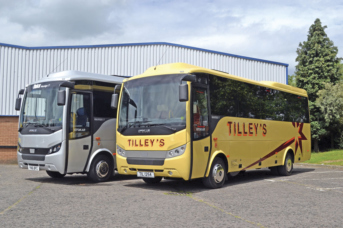 The new Otokar Navigo T. Tilley's vehicle was the third one sold by Minis to Midis and was just completing its pre-delivery inspection