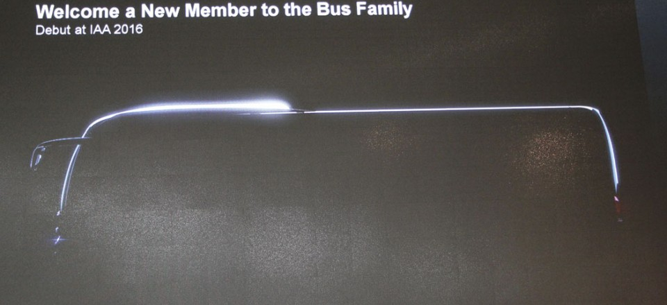 We got no more than a suggestion of what the new coach to be launched at the IAA will look like
