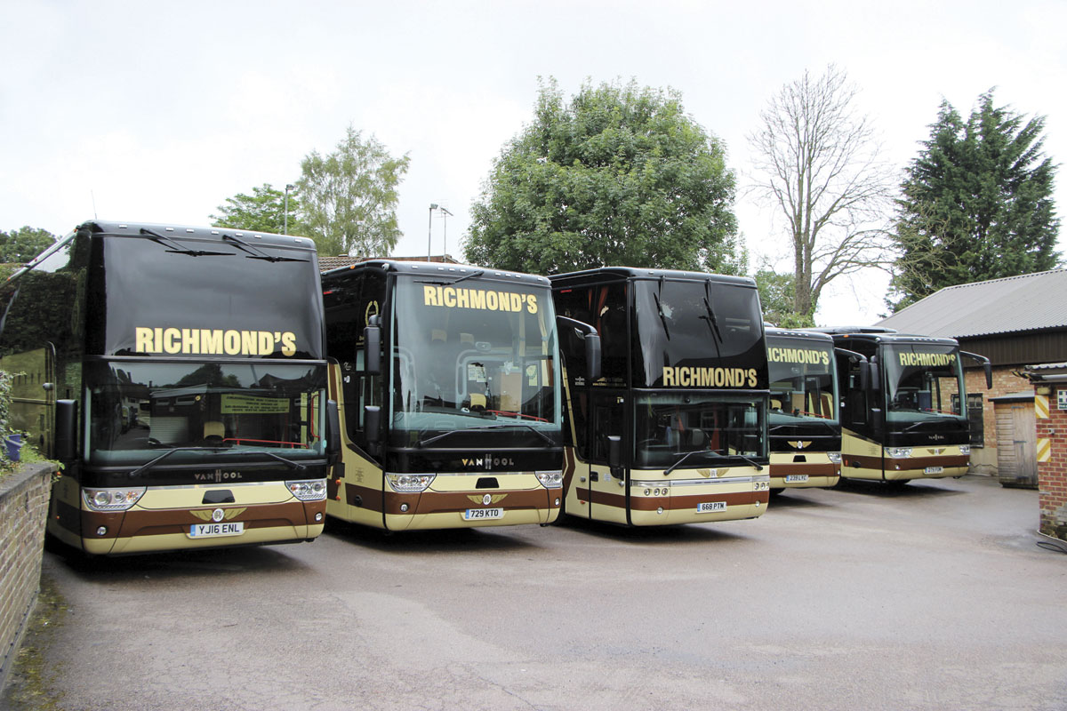 18 of the 23 coaches operated are Van Hools