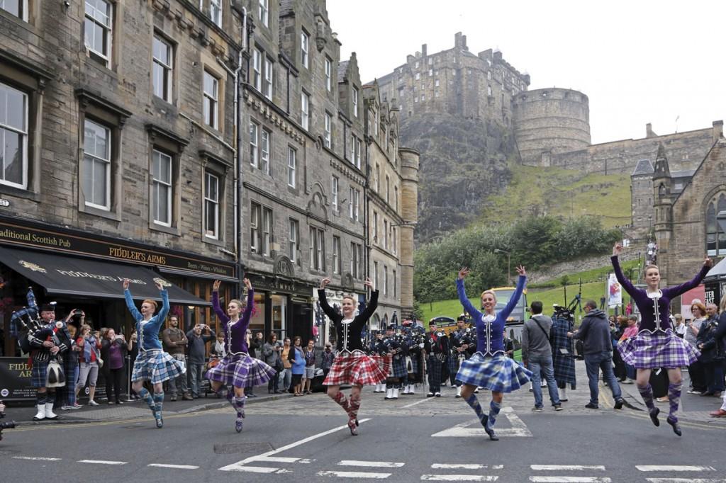 Dancers from the Royal Edinburgh Military Tattoo