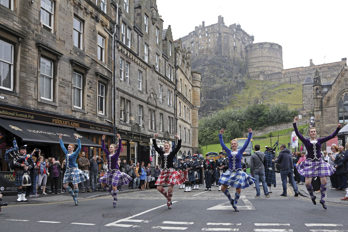 Dancers from the Royal Edinburgh Military Tattoo