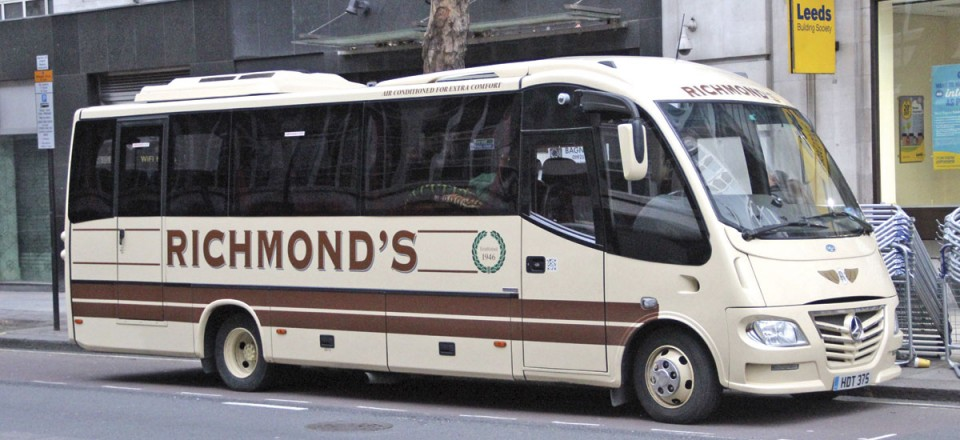 Laying over in Holborn, this 2011 Sitcar Beluga bodied Mercedes-Benz 816TD is a 25 seater. Five were purchased between 2002 and 2014 and two are still operated