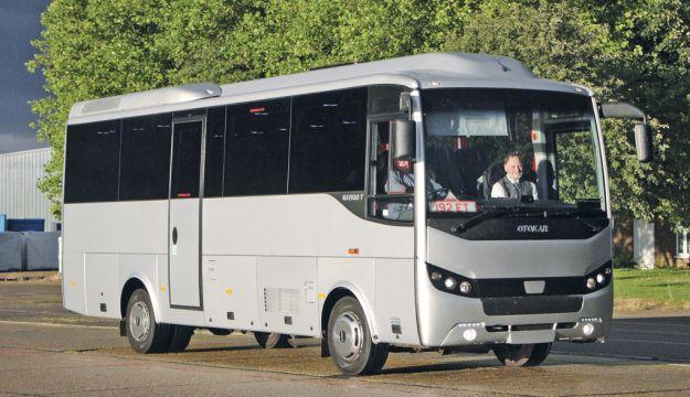 Minis to Midis showed the Otokar Navigo T, seen here on a test drive, as well as a Turas 900.