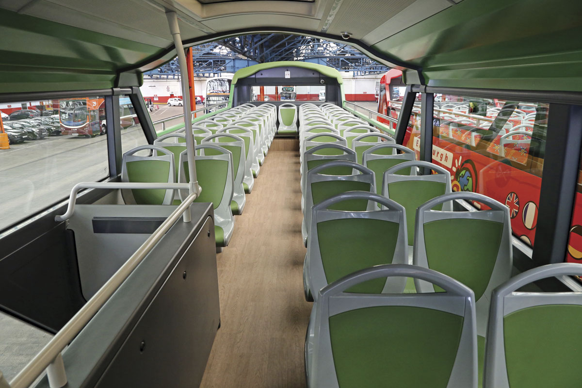 Over 50 passengers can be seated on the upper deck of all the vehicles
