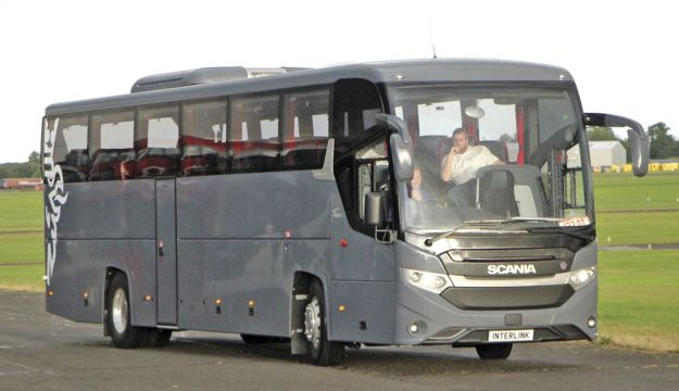 Scania's Interlink, the successor to the OmniExpress, made its UK debut.