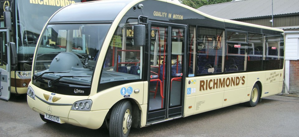 Six Optare Solos are operated and this Euro6 SR is one of three purchased last year for Hertfordshire's 386 service
