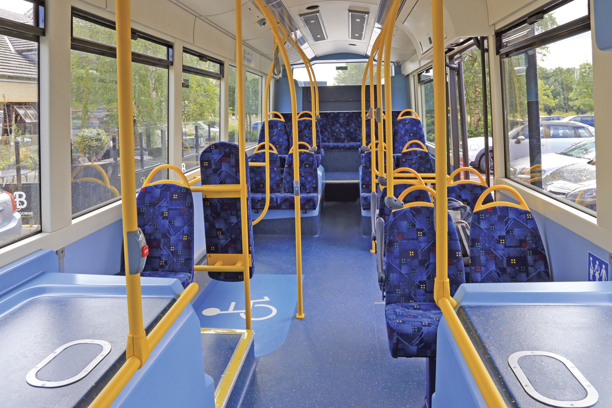 The interior of the 10.6m StreetAir EV DF is to TfL specification although some final details have yet to be added.