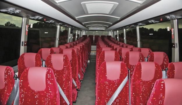 The Sunsundegui SB3 Volvo B8R interior. It seats 72.