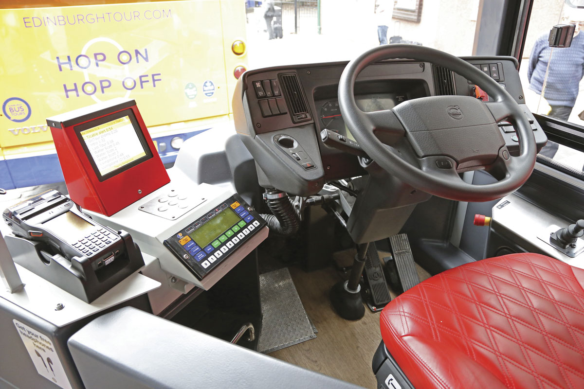 The driver's area