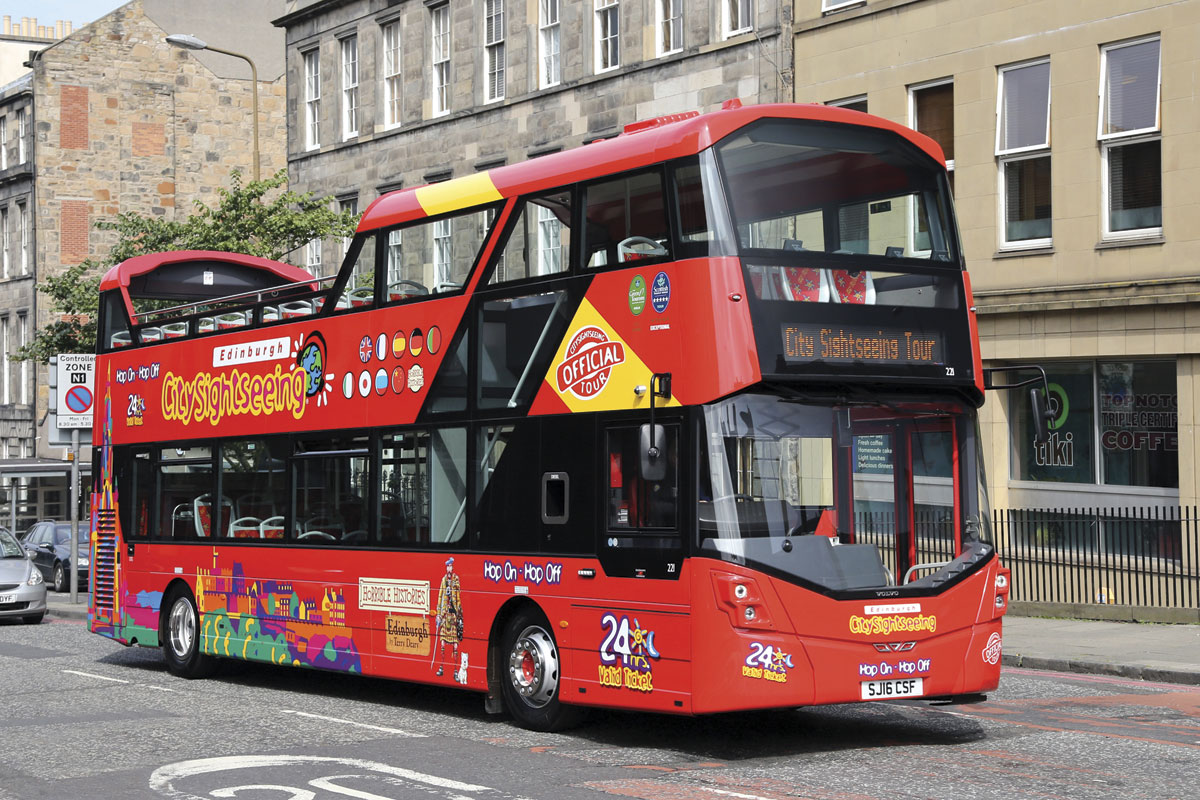 The new buses carry three liveries; City Sightseeing