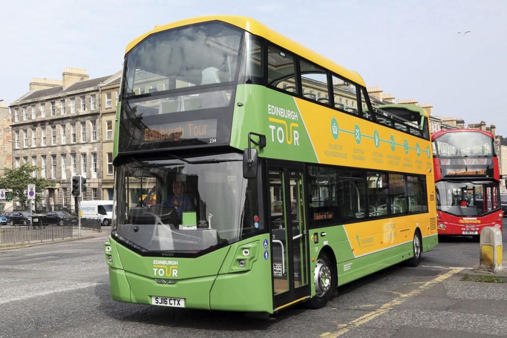 The new buses carry three liveries; The Edinburgh Tour