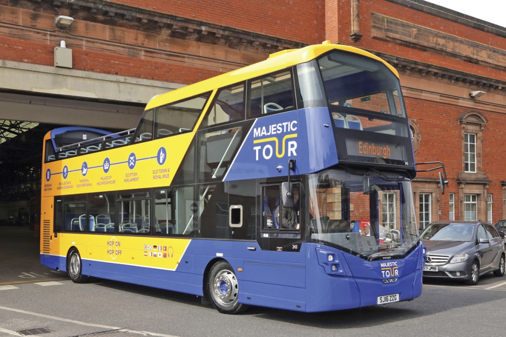The new buses carry three liveries; The Majestic Tour