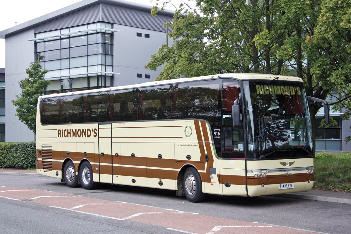 The oldest integral coach in the fleet is this 2008 T916 Astron pictured in 2010