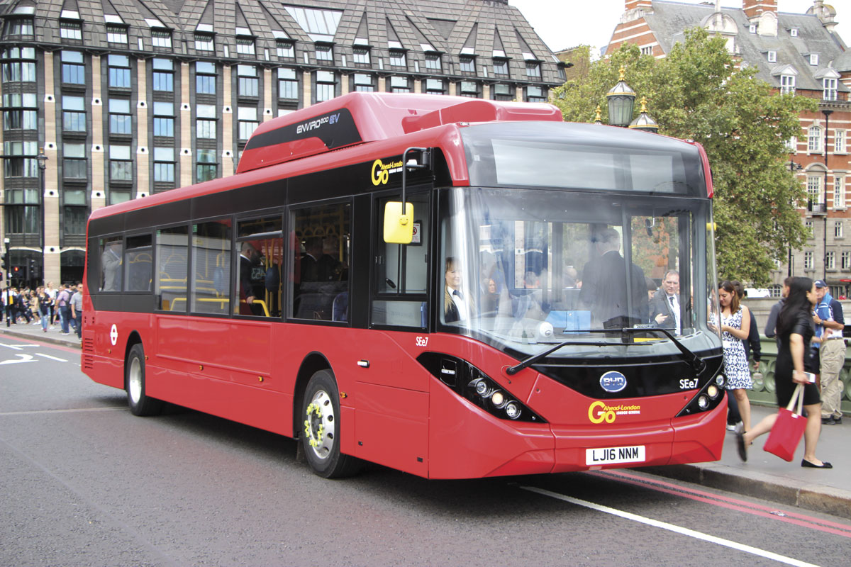 Aside from the additions to the roof and the additional length the appearance of the Enviro200EV is much as other Enviro200MMCs