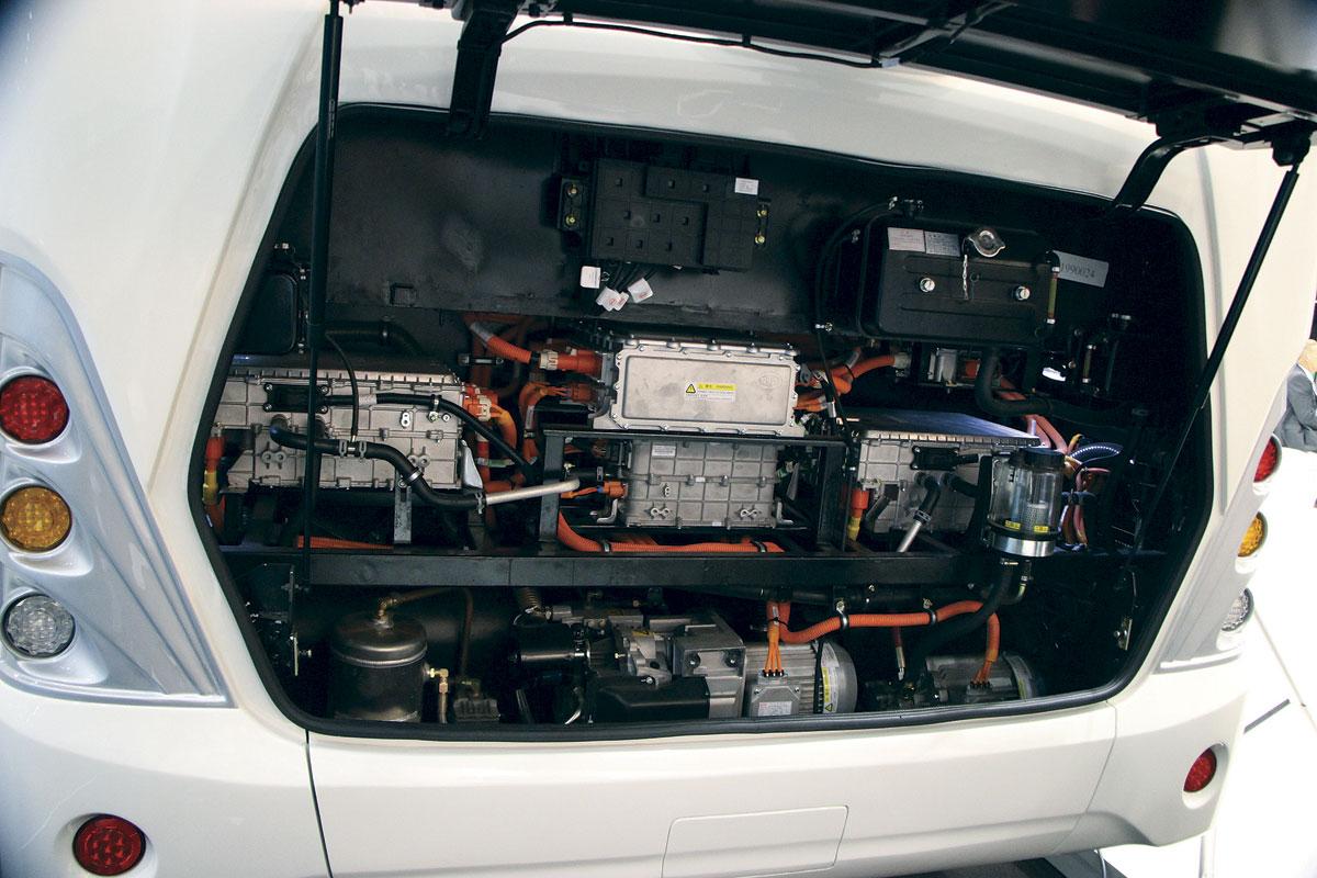 BYD electric coach - engine
