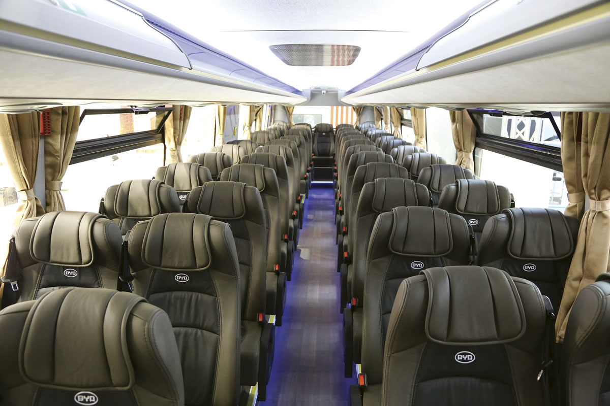 BYD electric coach - interior