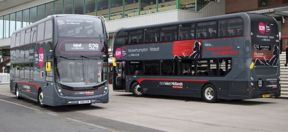The first two of 37 Platinum ADLs for Wolverhampton's Park Lane depot