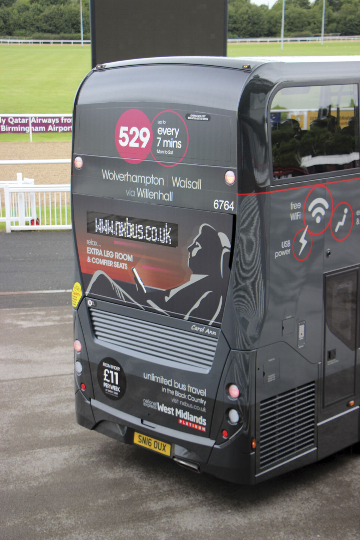 The rear of the ADL Enviro400 MMC