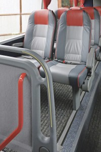 Alpha Powder Coating of Redditch carried out the red powder coating on the handrails of this Van Hool.