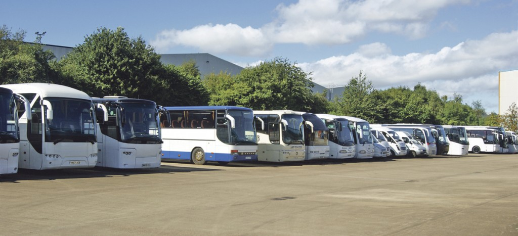A line up of some of the company's used vehicles.