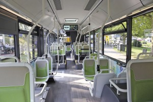 Light colours featured in the interior of the Citea demonstrator