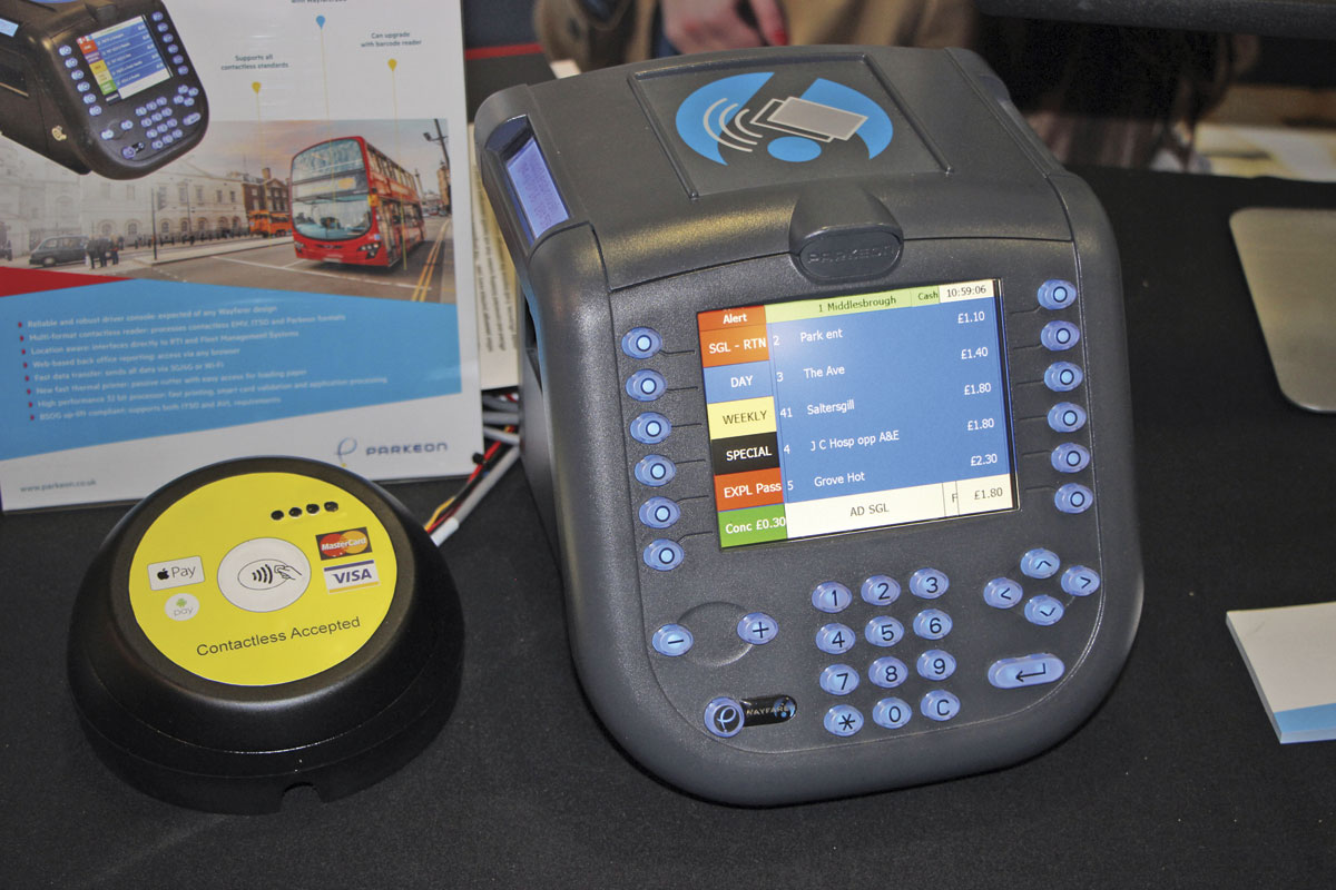 Parkeon's new EMV with Wayfarer 6 unit. Within a year the two units will be integrated