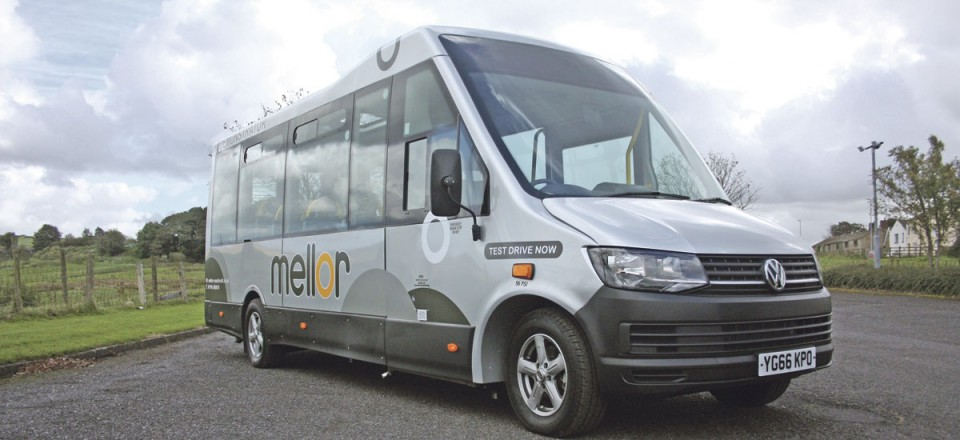 The front end styling showing how the raked screen is blended into the roof line with the characteristic Mellor sweep