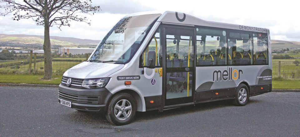 The new Mellor Tucana II directly wheelchair accessible small minibus is based on the VW T6 Transporter drive unit