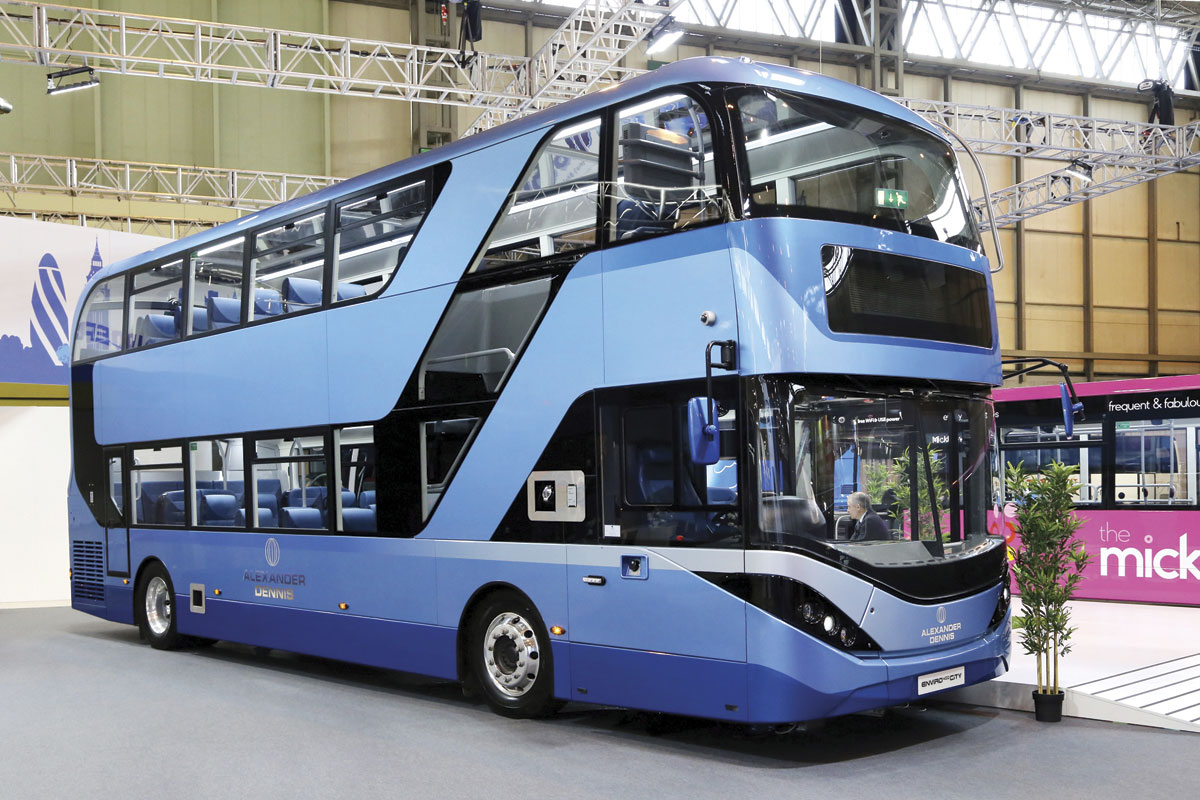ADL Enviro 400 City with glazed panels to upper deck ceiling