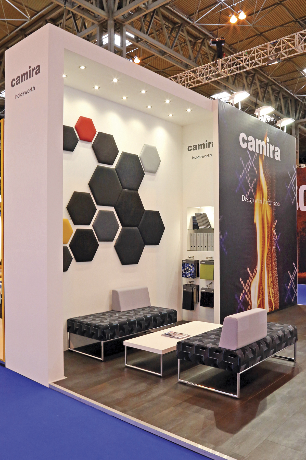 Camira's eye catching stand.