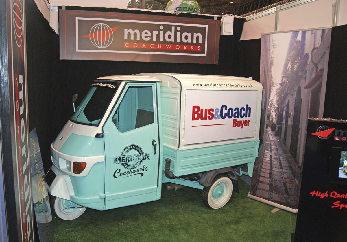 Meridian Coachworks had an interesting vehicle on its stand.