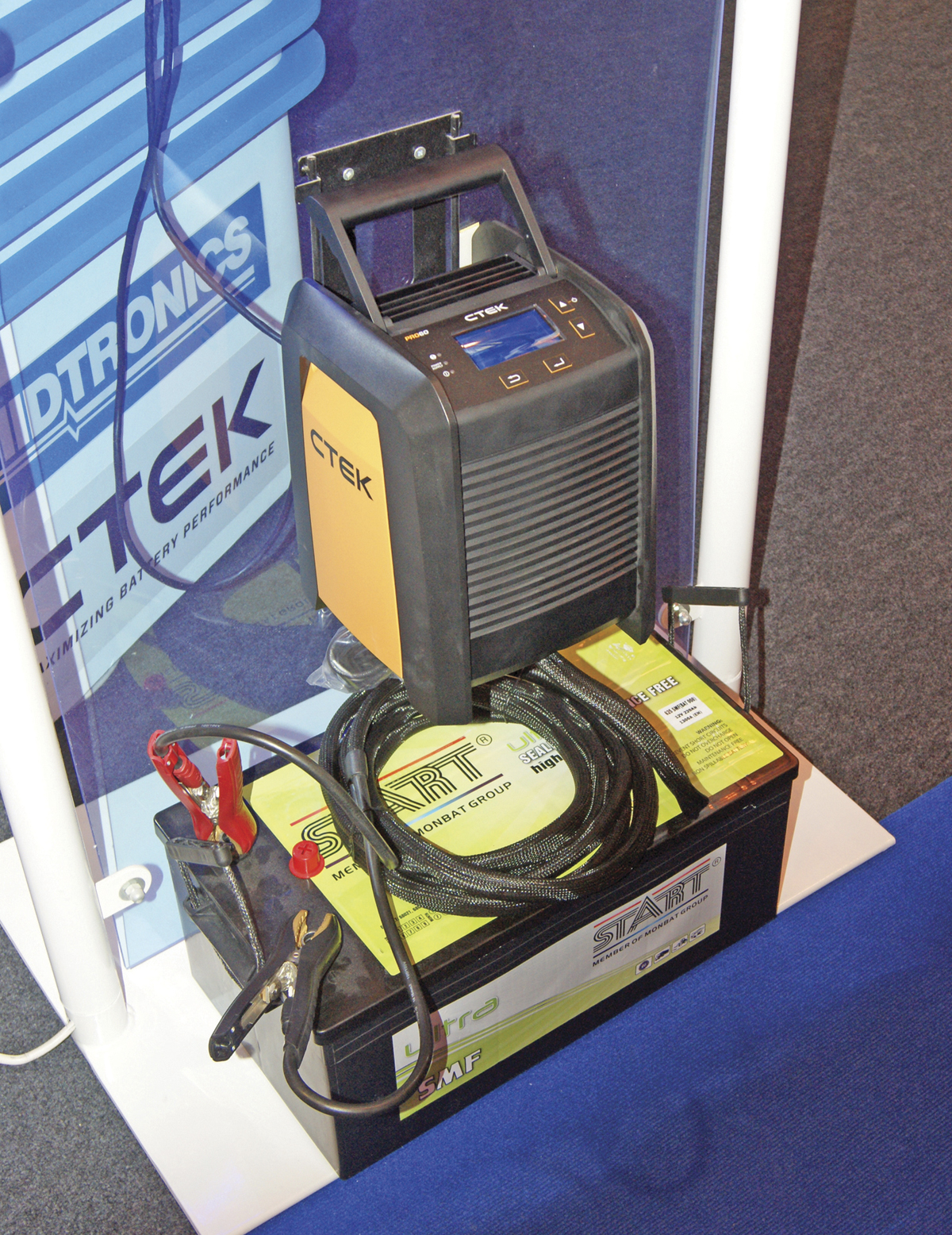 The CTEKpro60 battery charger came with a free Midtronics Tester as a special offer by Rotronics during the show.