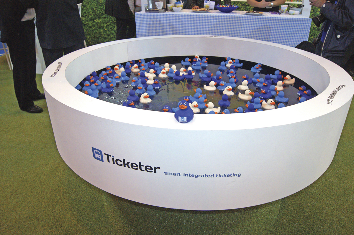 Ticketer had a hook the duck theme on its stand.